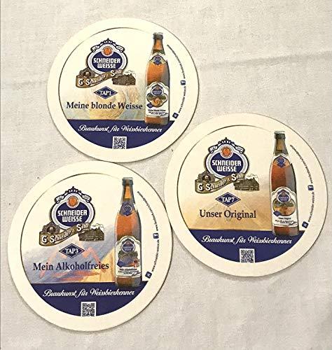 Schneider - Sottobicchieri in feltro di birra, 100 pezzi