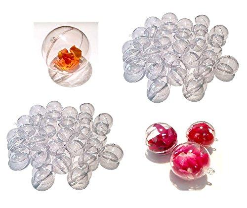 Crystal King - Lot de 40 boules en acrylique - 4 cm - Transparent - Divisible - En plastique acrylique