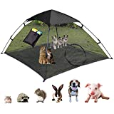 OUTING MAN Large Cat Tent Outdoor Playpen Pop Up Pet Cat Enclosures Portable Sunshade and Anti-UV Cat Playhouse (Play Tents for Cats and Small Animals) - Outside Habitat