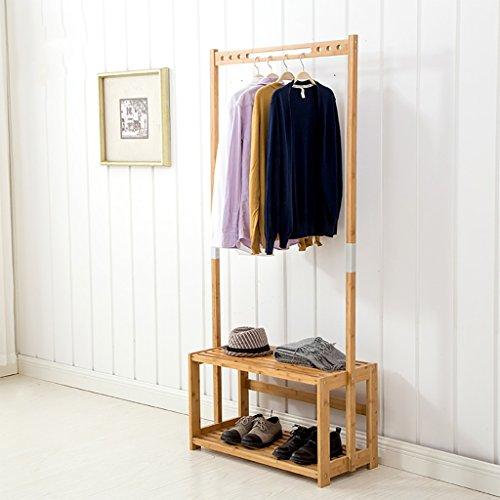 Percheros Perchero Dormitorio Percha Percha Creativa Simple Percha de bambú Nan Rack de Secado del hogar percheros Burro