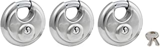 Master Lock 40TRI Shrouded Stainless Steel Disk Padlock with 2-3/4