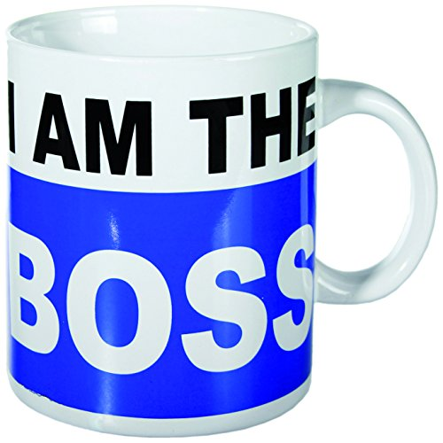 Out of the blue 78/8179 XL-Porzellan-Becher, I am the Boss, circa 13 x 11 cm