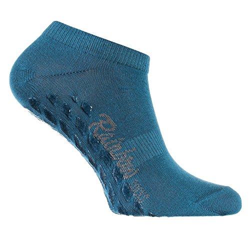 Rainbow Socks - Damen Herren Sneaker Antirutsch Socken ABS - 1 Paar Jeans - Größen 44-46