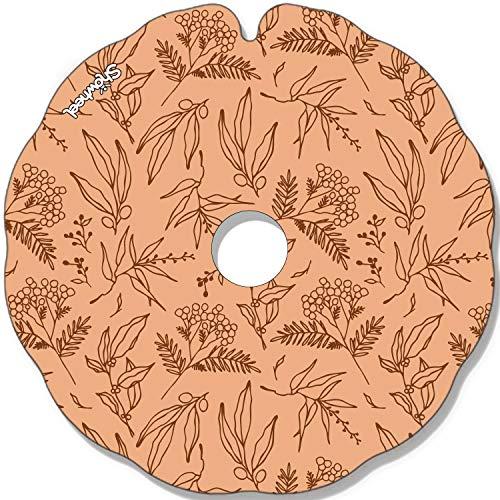 Rollstuhl Speichenschutz (Paar) für Greifreifen 51,51 bis 52,50cm Außendurchmesser, Flache Halter - Feuilles oranges