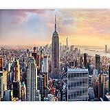 murando Fotomurales autoadhesivo Nueva York 245x175 cm XXL Papel pintado tejido no tejido Decoración de Pared decorativos Murales Diseno Fotográfico Manhattan Skyline d-B-0255-a-a