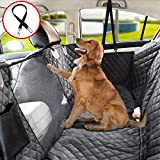 Vailge Dog Car Seat Cover for Back Seat, 100% Waterproof Dog Car Seat Covers with Mesh Window, Rear Car Seat Cover Side for Dogs Side Flaps Dog Car Hammock Scratch Proof for Cars Trucks SUV