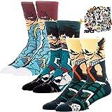 Herosworld My Hero Academia Character Socks Izuku Katsuki Shoto Todoroki Cosplay Socks Women & Men's (Izuku+Katsuki+Todoroki), Large