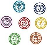 7 Unids/Set Chakras Pegatinas De Pared Mandala Yoga Meditación Símbolo Pvc Extraíble Tatuajes De Pared Murales Papel Tapiz Home Decoración De Pared