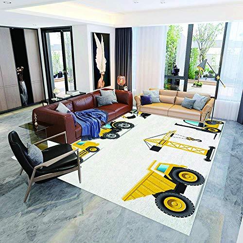 zyl non-slip mat non-slip mat cartoon style heavy machinery crane digger mixer tractor construction floor mat bedside mats floor mats living room rug 5.9 '× 6.9'