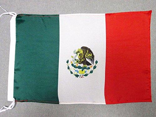 AZ FLAG Flagge MEXIKO 45x30cm freiner Polyester - MEXIKANISCHE Fahne 30 x 45 cm - flaggen
