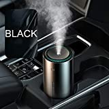 ZYYC Difusor de Aceite Esencial de Aroma de Coche humidificador de Aire de 300 ml para Oficina en casa purificador de Aire de Coche Nano Spray Mute Clean Air Care-Negro