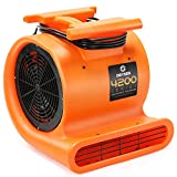 Dryser Air Mover Carpet Dryer 3 Speed 1 HP Industrial Floor Fan - Orange Stackable Carpet Drying Fan Floor Blower