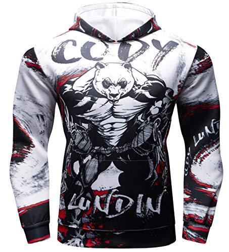 Cody Lundin Sport Hoodie für Herren Comic Kapuzenpullover Jacke für Fitness Männer Sweatshirts Hoody Outwear Hoody Männer Sport Hoodie Herren Kapuze (Color-g, M)
