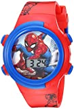 Marvel Boys' Quartz Watch with Plastic Strap, red, 16.5 (Model: SPD4480)
