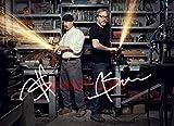 Mythbusters TV Show Adam Savage & Jamie Hyneman reprint signed 8x10' photo #1 RP