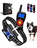 SOYAO Anti Barking Dog Collars with 800M Remote Control, Dog Barking Deterrent Devices with Spray/Vibration/Sound Modes for Dog Training, Bark Collar for Small Medium Large Dogs.