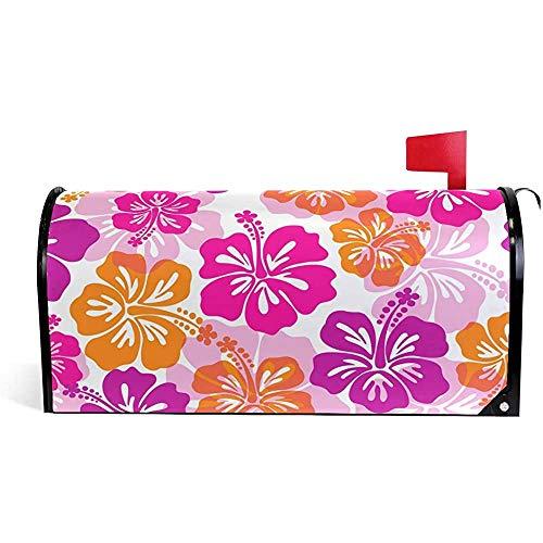 Garten dekorative Hibiskusblume Garten Dekorationen Saison Magnetic Mailbox Cover21 * 18 Zoll 21 * 18 Zoll