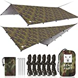 Bearhard Wasserdicht Camping Tarp Zeltplanen 3 x 3 m, Ultraleicht Multifunktionales UV Schutz Sonnensegel Zelt, ideal für Camping, Wandern, Picknick, Outdoor Aktivitäten