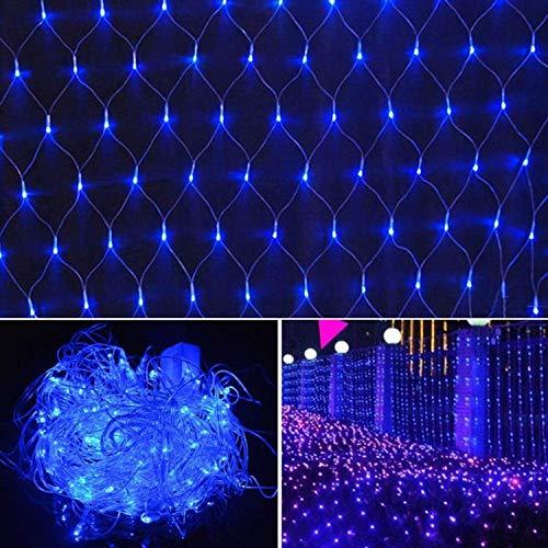 QING Hada Luces netas, 9x6ft 8 Modos de Color Impermeable tapón en 200LEDs Malla Cortina de la Secuencia de Las Luces de Cubierta del árbol de Navidad Al jardín Decorativo de Seguridad (Size : 2pcs)
