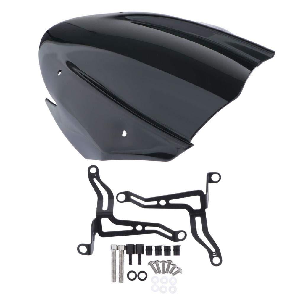 aus ABS-Kunststoff H HILABEE Motorrad Windschutzscheibe Windschild f/ür Suzuki GSXS750 GSX-S750 17-19