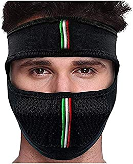 SK UNIVERSAL Bike Riding & Cycling Anti Pollution Dust Sun Protection Half Ninja Face Cover Mask (Black)