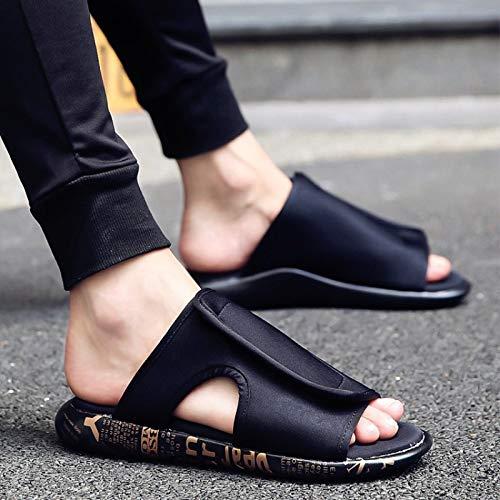 SHENBEIK Chanclas De Los Hombres Zapatillas Sandalias De Verano para Hombre Zapatos De Playa para Exterior Sandalias para Hombre Personalidad Cool Drag Men