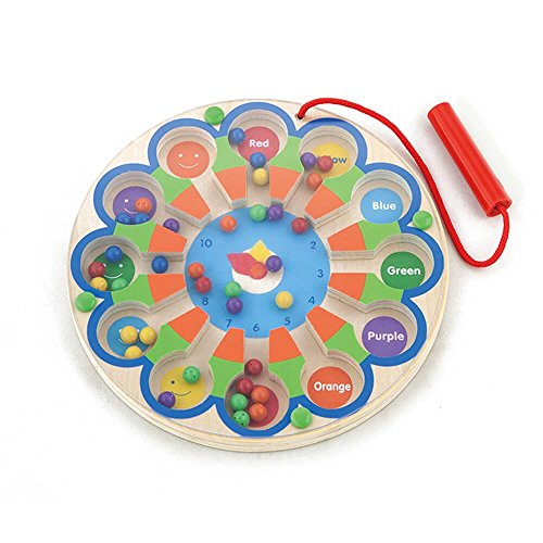 NEW CLASSIC Toys Jouet éducatif Horloge Labyrinthe en Bois Viga Toys