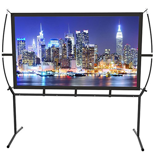 Projector Screen with Stand Foldable Portable...