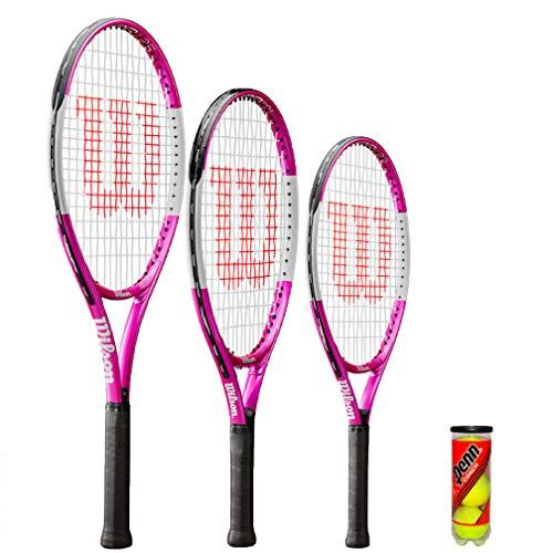 WILSON Ultra Pink Junior Tennisschläger + 3 Tennisbälle (21