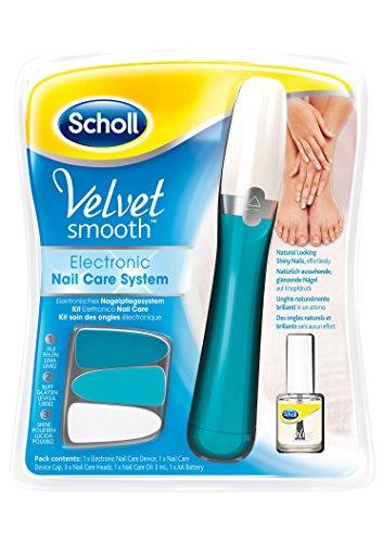 Scholl Velvet Smooth Elektronisches Nagelpflegesystem mit Nagelpflegeöl, blau, 1 Stück