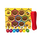 Zoostliss Wooden Lovely Bee Hive Toys Matching Game Color Sorting for Toddler Early Educational
