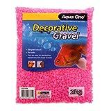 Aqua One Grava de color rosa para acuario, 2 kg (tamaño de grano de 7 mm)
