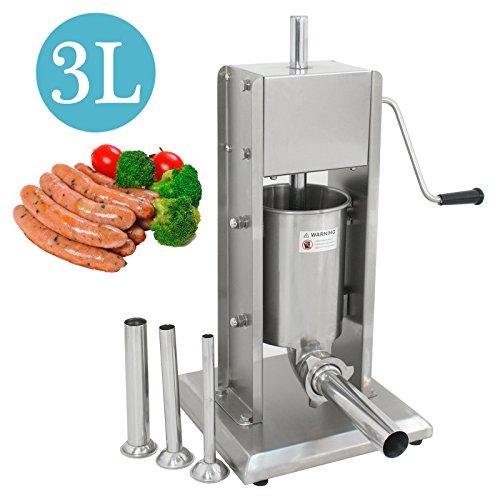 Super Deal 3L Sausage Filler Sausage Stuffer...