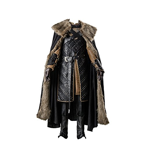 GoT 7 Game of Thrones Season 7 Jon Snow - Disfraz de cosplay para hombre, talla M