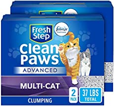 Fresh Step Advanced Clean Paws Clumping Cat Litter, Low Tracking Cat Litter with Odor Control - 37 lb (Package May Vary)