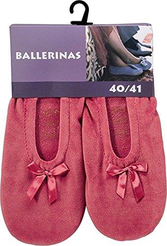 1par Mujer–Bailarinas con suela de piel Multicolor Rose