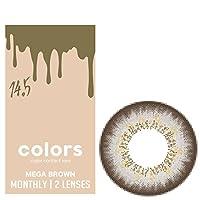 カラーズ 1ヵ月 マンスリー 1箱2枚入り【メガブラウン 度数:-6.00】 同じ度数の2枚入りとなります カラコン colors