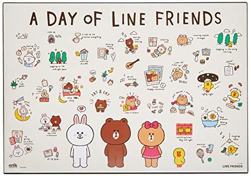 Vade Line Friends - Tapete escritorio, Protector escritorio - Producto con licencia oficial