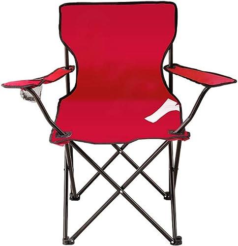 ZXASDC Chaise de Camping portable avec - Chaises Pliantes compactes Ultra-légères dans Un Sac de Transport pour randonneurs Camping Plage Plein air etc 42x42x80cm