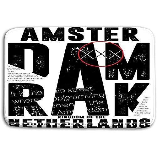 SESILY Deurmatten Tapijt Atletische Sport Amsterdam Typografie Mode Stijl Badmatten
