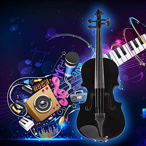 ZHAOHAONB Violín 2019 Venta caliente 1/8 Violín natural con estuche Arco Resina Regalo de instrumento musical con negro