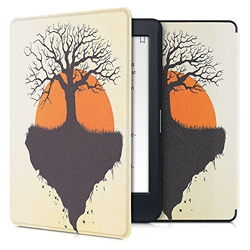 kwmobile Carcasa Compatible con Kobo Nia - Funda para Libro electrónico con Solapa - Árbol de la Vida