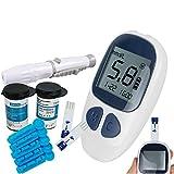 Electronic Blood Glucose Testing Kit Digital Handheld Blood Glucose Monitor Includes 50 Free Test Strips & 50 Lancets USA Warehouse
