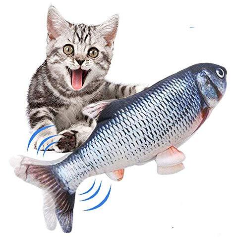 猫 おもちゃ 電気猫用おもちゃ 猫用ぬいぐるみ 電動魚 動く魚おもちゃ ストレス解消 ねこ 噛むおもちゃ 動ける USB充電式