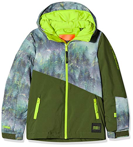 O'Neill Jungen PB HALITE Jackets Snow, Green Aop, 152 (L)