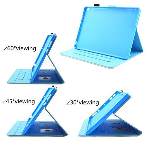 HUDDU Verträumter Schmetterling Schutzhülle für Huawei MediaPad M3 Lite 10 (10,1 Zoll) Hülle Flip Tasche Leder Smart Case Lightweight Cover mit Stand Kartenfach Magnetverschluss Notebook Lederhülle - 6