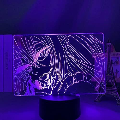 Seraph of the end - Lámpara LED de ilusión 3D con mando a distancia, carga USB, decoración de dormitorio infantil, luz nocturna