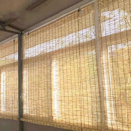 Balcón Terraza Persianas De Caña Hecho A Mano, Impermeable Color Natural Estores Exteriores, Pantalla De Privacidad Cortinas para Ventana 150 X 300 Cm, El Tamaño Se Puede Personalizar, No Se Deforma