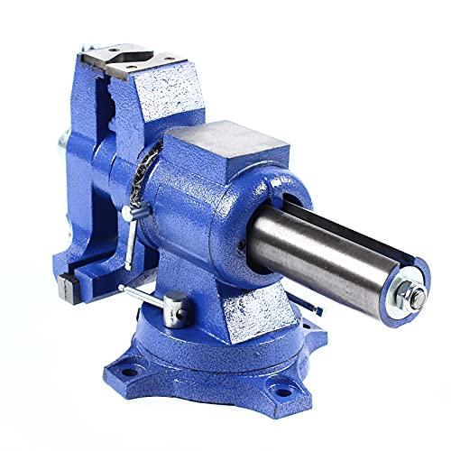 Tornillo de banco universal de 150 mm, giratorio 360°, tornillo de banco de mesa de 150 mm, abrazadera profesional para...