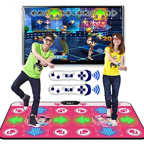 MERCB Estera de Baile de Yoga para Jugadores Dobles, Interfaz de computadora de TV, Juego en casa, Manta de Bailarina para Adelgazar, Almohadilla para Alfombra